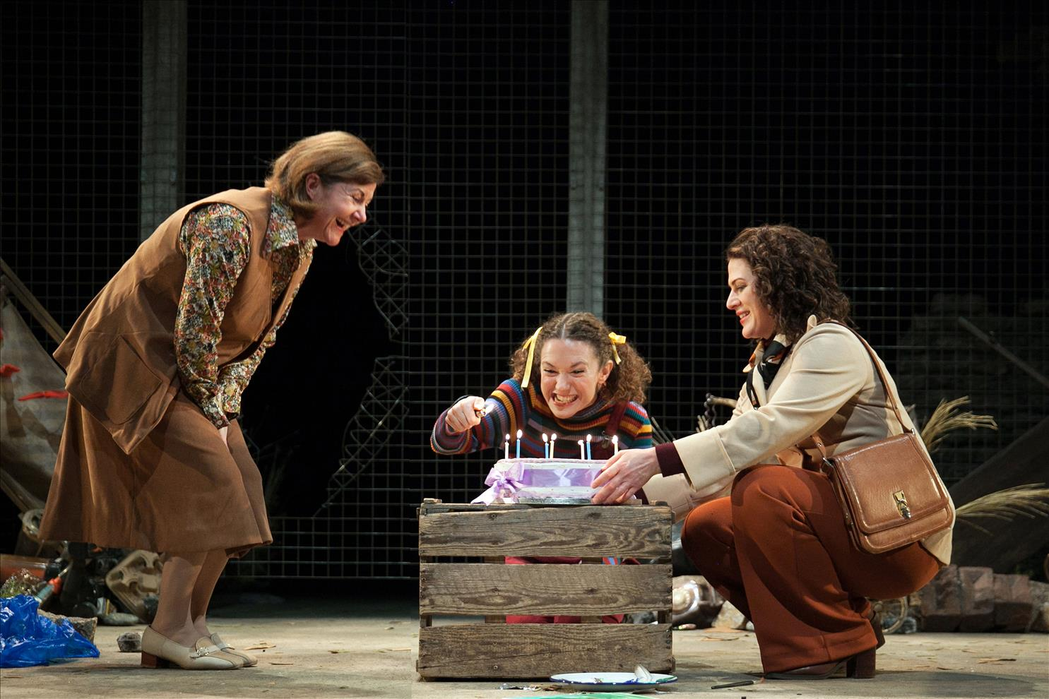 Connie Walker as Margaret Felicity Houlbrooke as Rosie, Kathryn Ritchie as Jackie = My Mother Said - London Classic Theatre