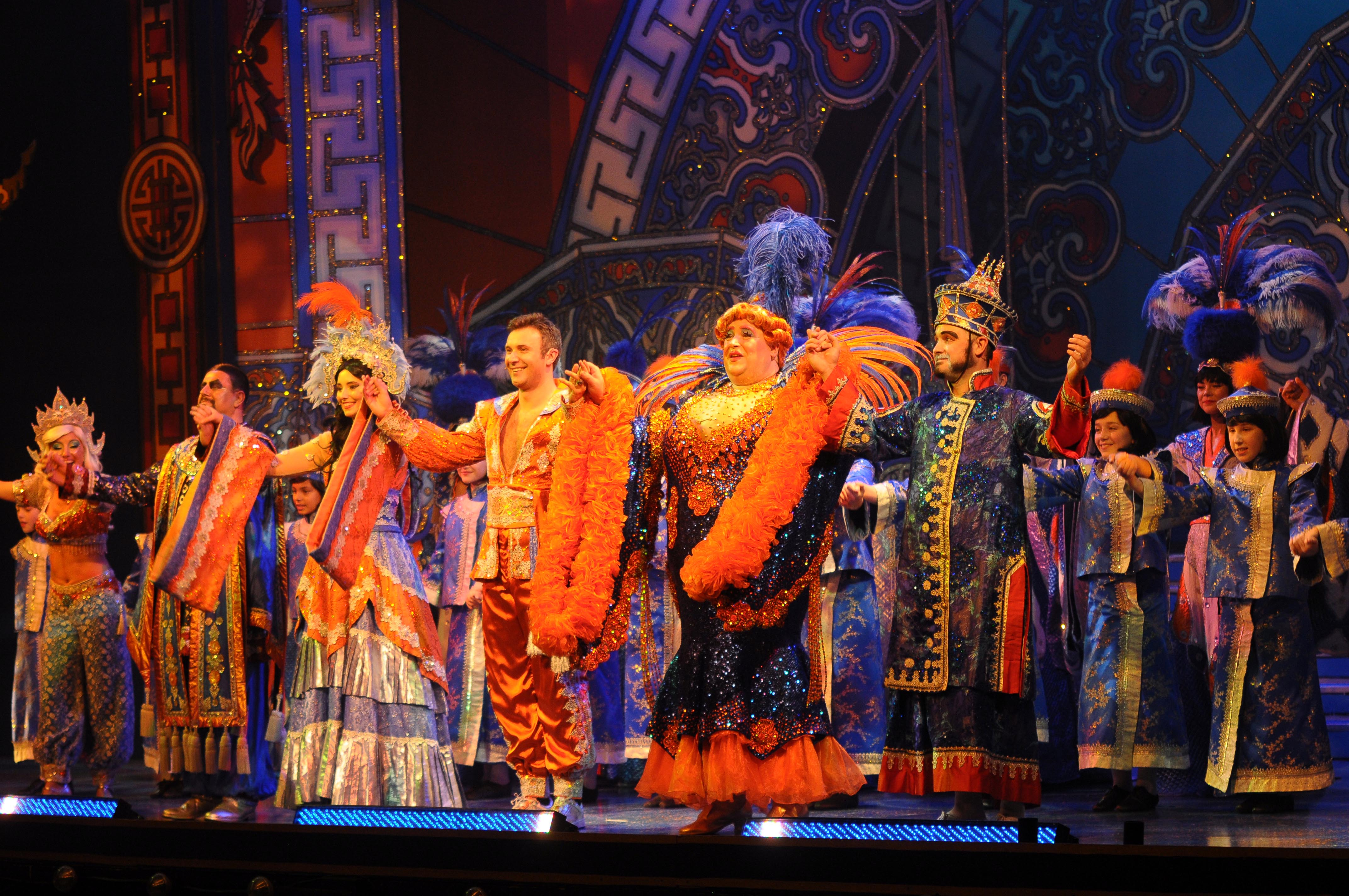 Aladdin stoke on trent panto at the theatre for Aladdin cuisine stoke